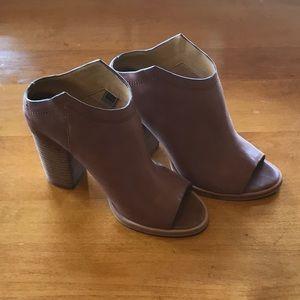 Dolce Vita Tan Leather Wedge Booties
